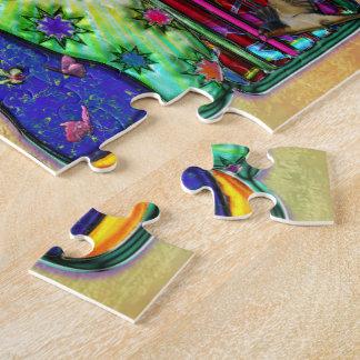 Peace Word Art Birds and Butterflies Jigsaw Puzzle