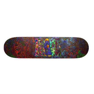 Peace Word Art Birds and Butterflies & Psychedelic Custom Skate Board