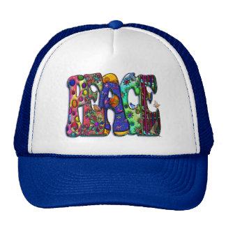 Peace Word Art Birds and Butterflies Trucker Hat