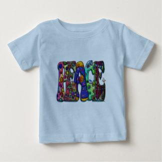 Peace Word Art Birds and Butterflies T-shirt