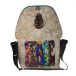 Peace Word Art Birds Butterflies & Floral Skull Commuter Bags