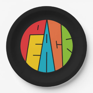 Peace - Word Art Paper Plate