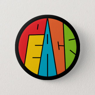 Peace - Word Art Pinback Button