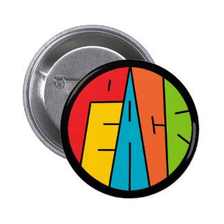 Peace - Word Art Pinback Button