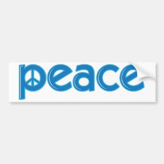 Peace Word Bumper Sticker