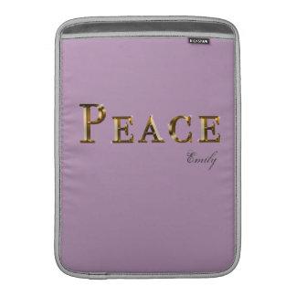 """Peace Word Design 13"""" Macbook Air Sleeves"""