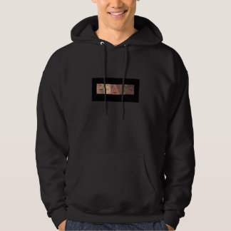peace word in wood type hoodie