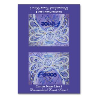 Peace Word Inspirational Angel Custom Table Tents Table Number