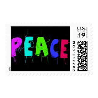 """""""Peace"""" Word Postage Stamps"""