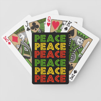 Peace Words Bicycle Playing Cards