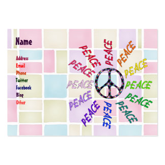 Peace Words Circle Large Business Card