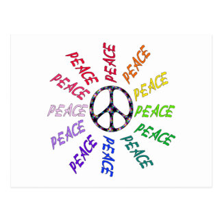 Peace Words Circle Postcard