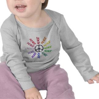 Peace Words Circle T-shirts