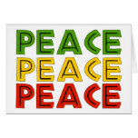 Peace Words Greeting Cards