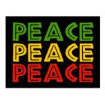 Peace Words Postcard
