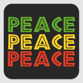 Peace Words Square Sticker