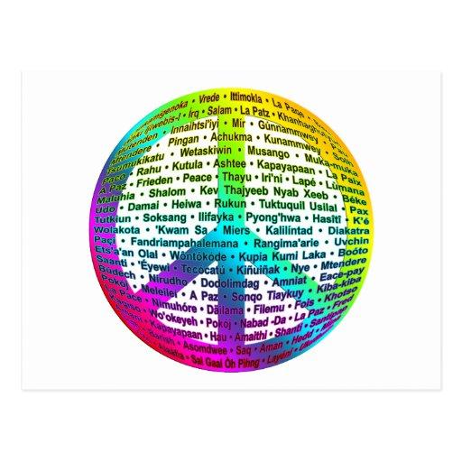 Peace World Language Postcard
