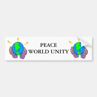 PEACE WORLD UNITY BUMPER STICKER
