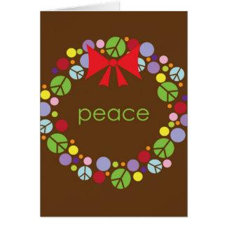 Peace Wreath Holiday Christmas Card