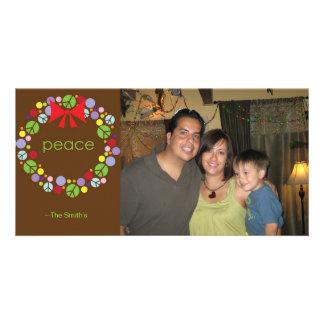 Peace Wreath Holiday Photo Card