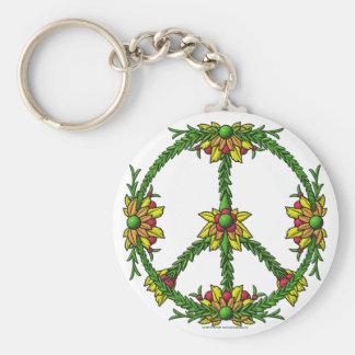 Peace Wreath Keychain