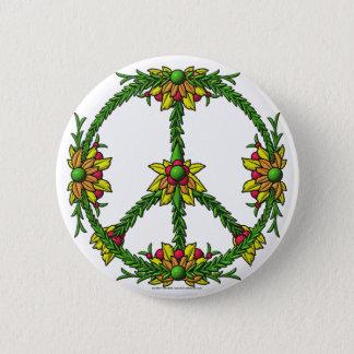 Peace Wreath Pinback Button