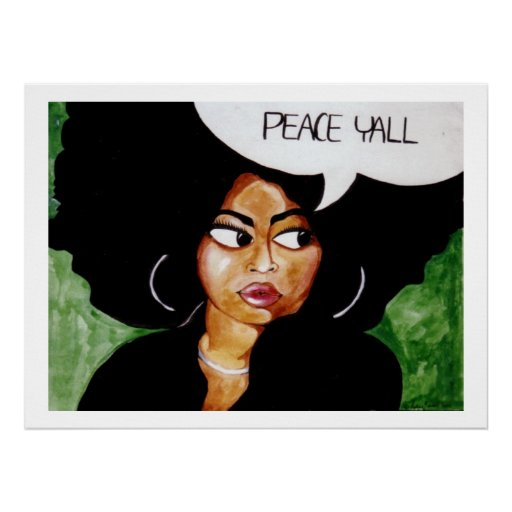 Peace Y'all Poster