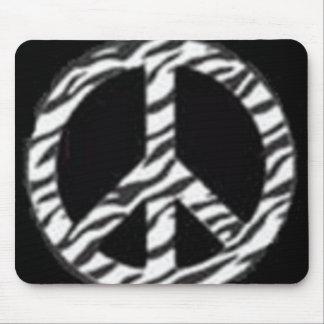 peace&zebra mouse pad