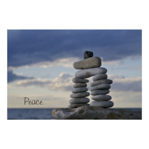 Peace Zen Rocks Poster Zazzle