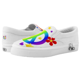 Peace ZipZ Slip On Shoes