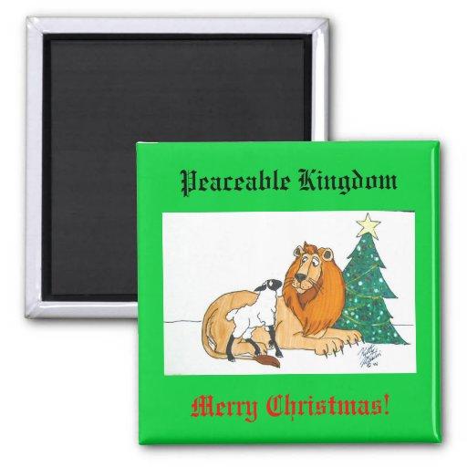 Peaceable Kingdom 2 Inch Square Magnet