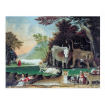 Peaceable Kingdom by Edward Hicks Post Cards