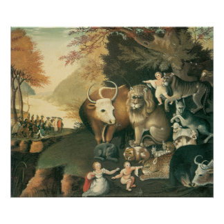 Peaceable Kingdom by Edward Hicks, Victorian Art Posters