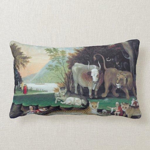 Peaceable kingdom by Hicks Throw Pillows