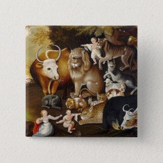 Peaceable Kingdom, c.1834 (oil on canvas) Button