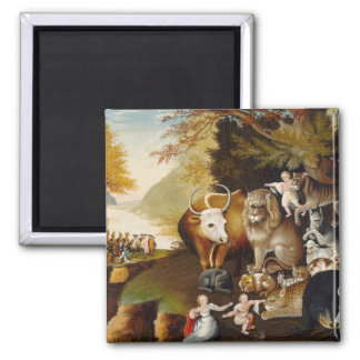 Peaceable Kingdom, c.1834 (oil on canvas) Refrigerator Magnets