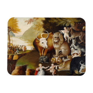 Peaceable Kingdom, c.1834 (oil on canvas) Rectangle Magnets