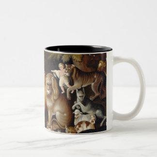 Peaceable Kingdom, c.1834 (oil on canvas) Two-Tone Coffee Mug