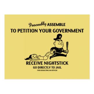 Peaceably Assault Postcard