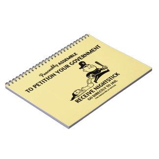 Peaceably Assault Spiral Notebooks