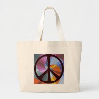 Peaced Swirl Shopping Bag