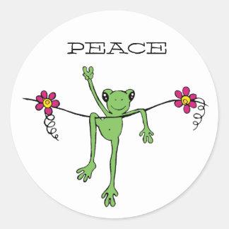PeaceFroggy, PEACE Round Sticker