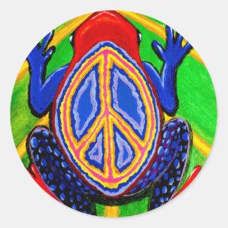 peacefrogz classic round sticker