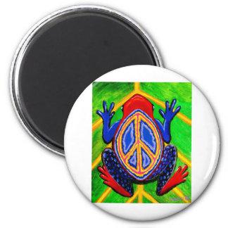 peacefrogz imán redondo 5 cm
