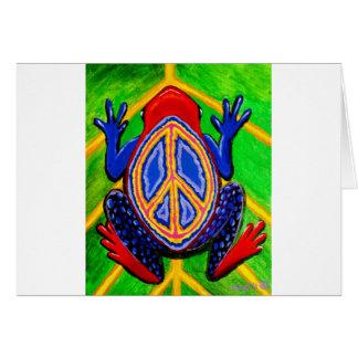 peacefrogz tarjeta de felicitación