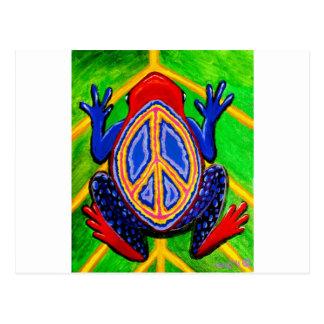 peacefrogz tarjeta postal