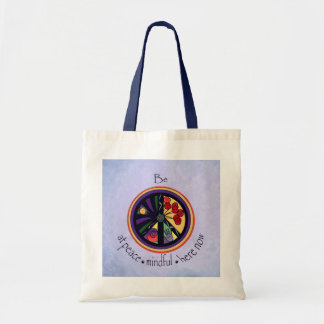 Peaceful Affirmations Colorful Tote Bag