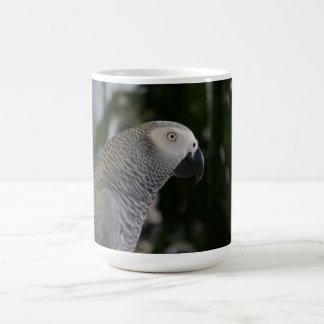 Peaceful African Grey Classic White Coffee Mug