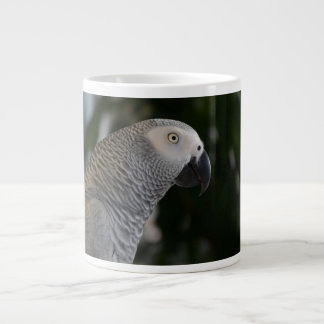 Peaceful African Grey Large Coffee Mug