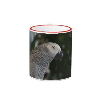 Peaceful African Grey Ringer Mug